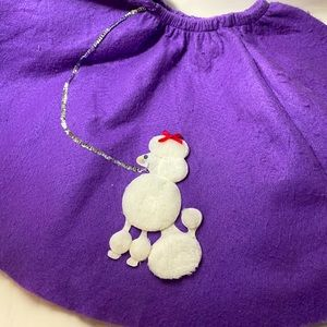 Vintage Poodle Skirt Kids Girls Small Halloween